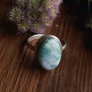 .925 Larimar Ring / Size 5.5 / Sterling Silver